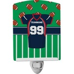 Football Jersey Ceramic Night Light (Personalized)