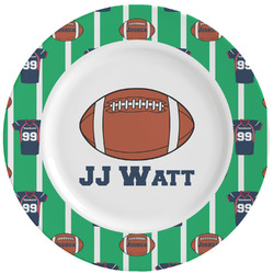 Football Jersey Ceramic Dinner Plates (Set of 4) (Personalized)