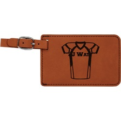 Football Jersey Leatherette Luggage Tag (Personalized)