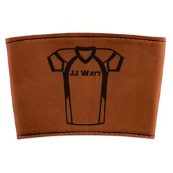 Football Jersey Leatherette Cup Sleeve (Personalized)