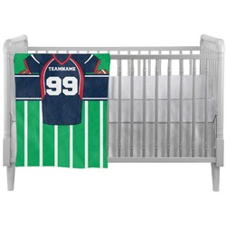 Football Jersey Crib Comforter / Quilt (Personalized)