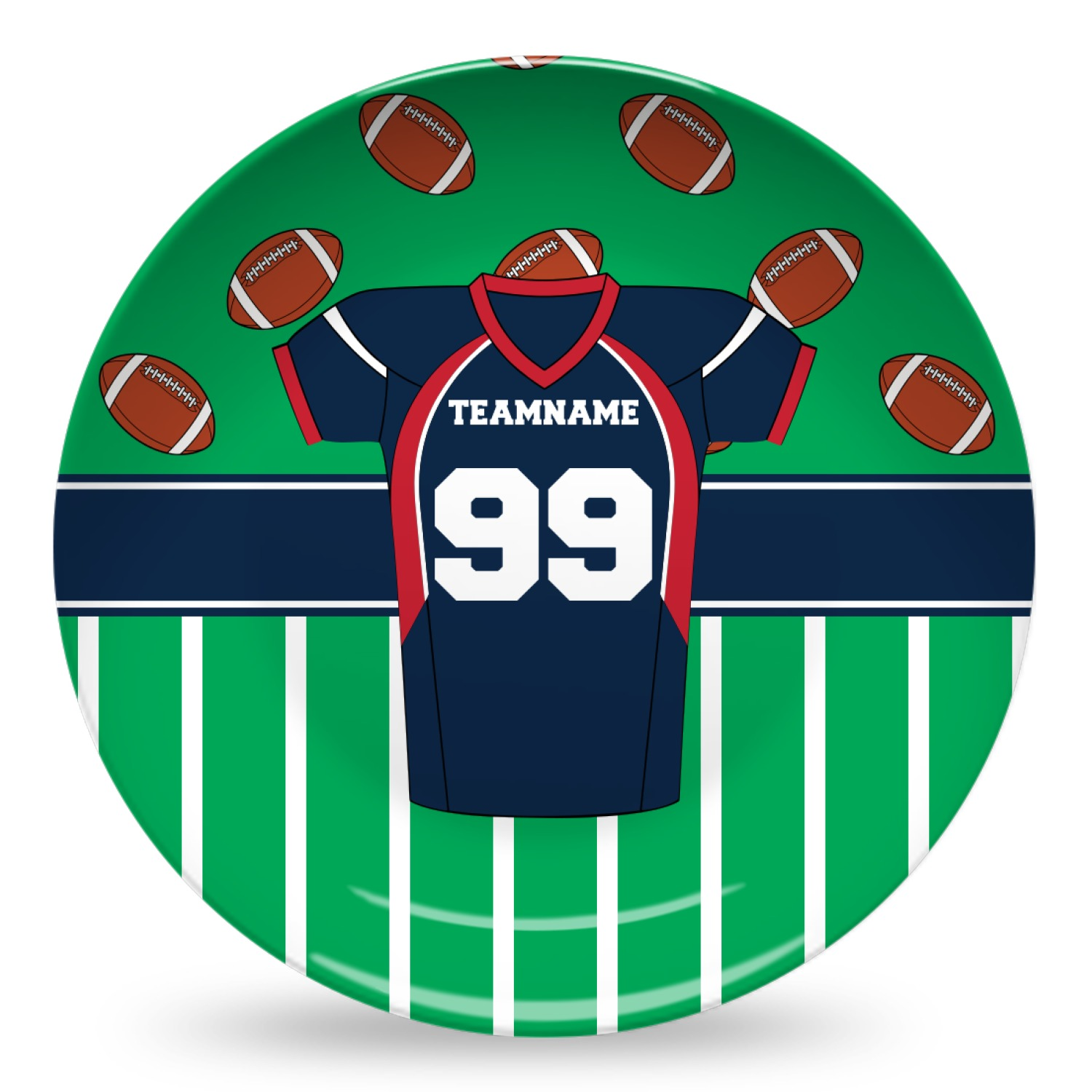 Football Jersey Composite Polymer Plate Personalized
