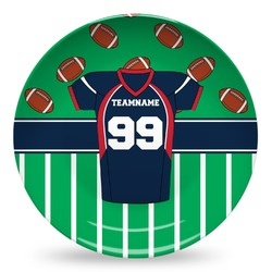 Football Jersey Microwave Safe Plastic Plate - Composite Polymer (Personalized)