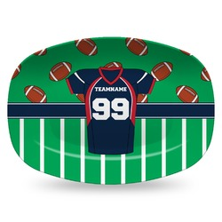 Football Jersey Plastic Platter - Microwave & Oven Safe Composite Polymer (Personalized)