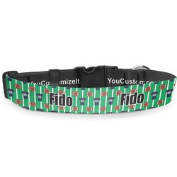 """Football Jersey Deluxe Dog Collar - Small (8.5"""" to 12.5"""") (Personalized)"""