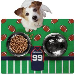 Football Jersey Dog Food Mat - Medium w/ Name and Number