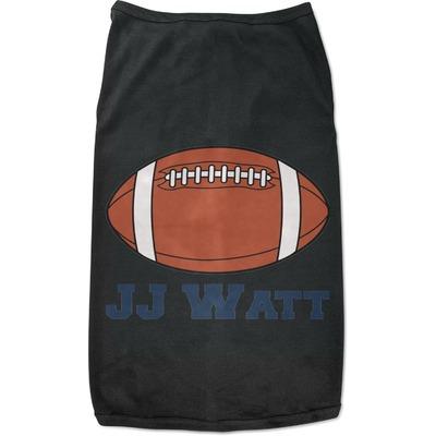 Football Jersey Black Pet Shirt (Personalized)