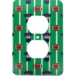 Football Jersey Electric Outlet Plate (Personalized)