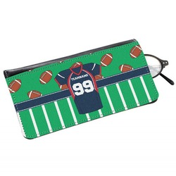 Football Jersey Genuine Leather Eyeglass Case (Personalized)