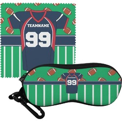 Football Jersey Eyeglass Case & Cloth (Personalized)