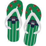 Football Jersey Flip Flops (Personalized)