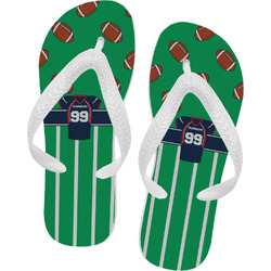 Football Jersey Flip Flops (Personalized)