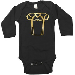 Football Jersey Foil Bodysuit - Long Sleeves - Gold, Silver or Rose Gold (Personalized)