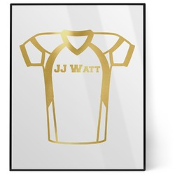 Football Jersey 8x10 Foil Wall Art - White (Personalized)