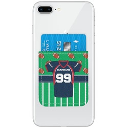 Football Jersey Genuine Leather Adhesive Phone Wallet (Personalized)