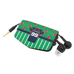Football Jersey Genuine Leather Cord Wrap (Personalized)