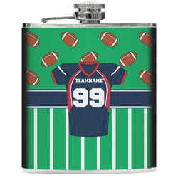 Football Jersey Genuine Leather Flask (Personalized)