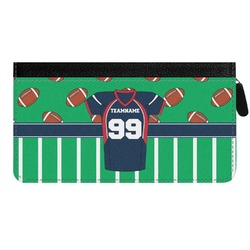 Football Jersey Genuine Leather Ladies Zippered Wallet (Personalized)