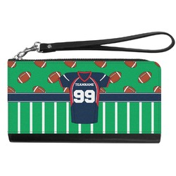 Football Jersey Genuine Leather Smartphone Wrist Wallet (Personalized)