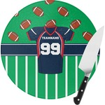 Football Jersey Round Glass Cutting Board (Personalized)