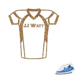 Football Jersey Glitter Iron On Transfer- Custom Sized (Personalized)