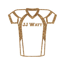 Football Jersey Glitter Iron On Transfer- Custom Sized (Personalized)