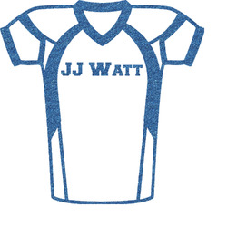 """Football Jersey Glitter Sticker Decal - Up to 4.5""""X4.5"""" (Personalized)"""