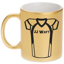 Football Jersey Gold Mug (Personalized)