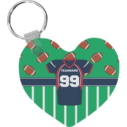 Football Jersey Heart Keychain (Personalized)