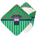 Football Jersey Hooded Baby Towel w/ Name and Number