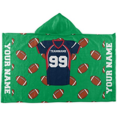 Football Jersey Kids Hooded Towel (Personalized)