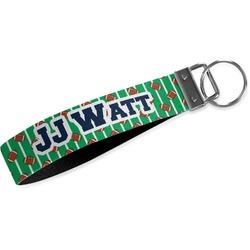 Football Jersey Wristlet Webbing Keychain Fob (Personalized)