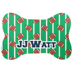 Football Jersey Bone Shaped Dog Food Mat (Personalized)