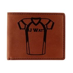 Football Jersey Leatherette Bifold Wallet (Personalized)