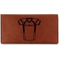 Football Jersey Leatherette Checkbook Holder (Personalized)