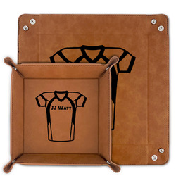 Football Jersey Faux Leather Valet Tray (Personalized)