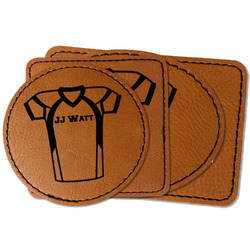 Football Jersey Faux Leather Iron On Patch (Personalized)