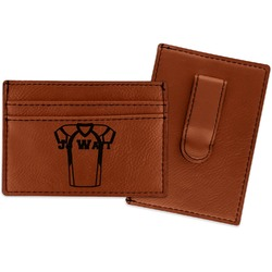 Football Jersey Leatherette Wallet with Money Clip (Personalized)