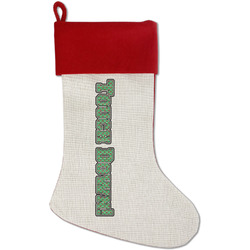 Football Jersey Red Linen Stocking (Personalized)