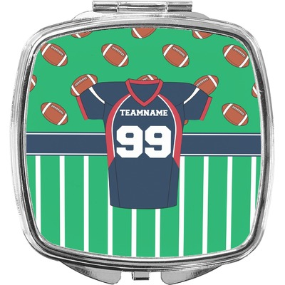 Football Jersey Compact Makeup Mirror (Personalized)