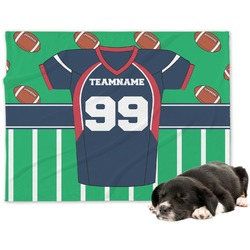 Football Jersey Minky Dog Blanket - Large  (Personalized)