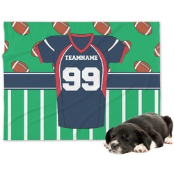 Football Jersey Minky Dog Blanket (Personalized)