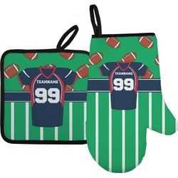 Football Jersey Oven Mitt & Pot Holder (Personalized)