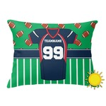 Football Jersey Outdoor Throw Pillow (Rectangular) (Personalized)