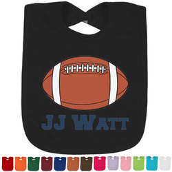 Football Jersey Baby Bib - 14 Bib Colors (Personalized)