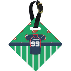 Football Jersey Diamond Luggage Tag (Personalized)