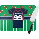 Football Jersey Rectangular Glass Cutting Board (Personalized)