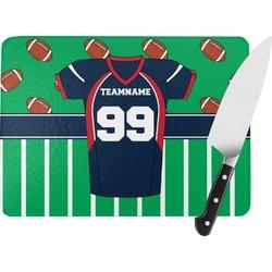Football Jersey Rectangular Glass Cutting Board (Personalized)