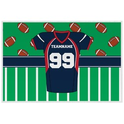 Football Jersey Laminated Placemat w/ Name and Number
