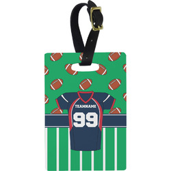 Football Jersey Rectangular Luggage Tag (Personalized)